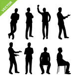 Business man silhouettes vector Royalty Free Stock Image