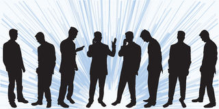 Business man silhoutettes Stock Photo
