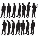 Business man silhoutettes Stock Photos