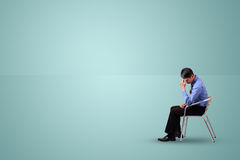 Business man sit and thinking Stock Photography