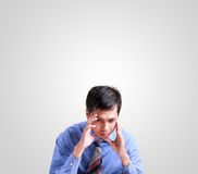 Business man sit and thinking Royalty Free Stock Photo