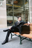 Business Man Sitting Stock Images