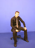 Business Man sitting Stock Photography