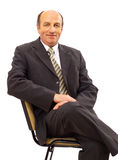 Business man sitting on chair Stock Photo