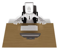 Business Man sitting at a desk Royalty Free Stock Photography