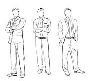 Business man sketch. Business man in the suit. Hand drawn sketch Royalty Free Stock Photography