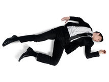 Business man sleep position Royalty Free Stock Photography