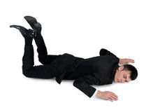 Business man sleep position Stock Image