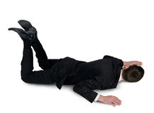 Business man sleep position Royalty Free Stock Image