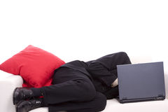 Business man sleeping on chouch Stock Images