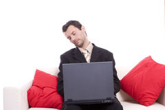 Business man sleeping on chouch Royalty Free Stock Photo