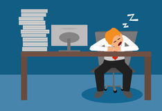 Business man sleeping at desk Royalty Free Stock Photography