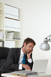 Business man sleepy Stock Photo