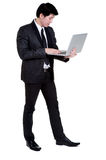 Business man smart hold notebook suit Royalty Free Stock Photos