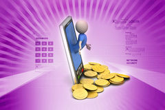 Business man with smart phone Royalty Free Stock Images
