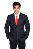 Business man smile suit isolated Stock Photography