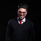 Business man smiles for you Royalty Free Stock Photo
