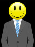 Business man with smiley face Stock Photography