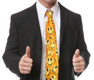 Business Man with Smiley Tie Stock Image