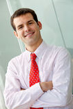 Business man smiling Stock Photography