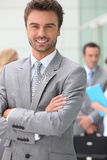 Business man smiling Royalty Free Stock Images