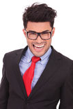 Business man smiling crazy Royalty Free Stock Images
