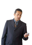 Business man sms - je Stock Images