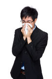 Business man sneeze Royalty Free Stock Images