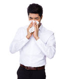 Business man sneeze Stock Photography