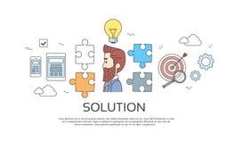 Business Man Solution, Light Bulb Idea Creative Concept Brainstorming Stock Images