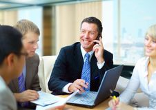 Business man speaking Royalty Free Stock Image
