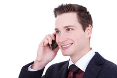 Business man speaking over cellphone Royalty Free Stock Photography