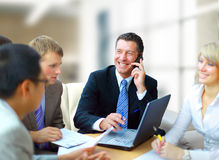 Business man speaking on the phone Royalty Free Stock Photo