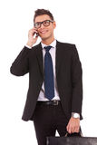 Business man speaking on the phone Stock Image