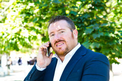Business man speaking on the phone Royalty Free Stock Images