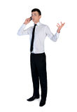 Business man speaking phone Stock Image
