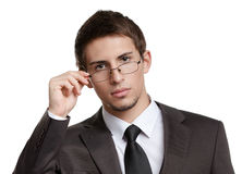 Business man in spectacles Royalty Free Stock Image