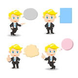 Business man with speech bubbles Stock Image