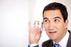 Business man spying Royalty Free Stock Photos