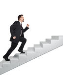 Business man and stairs Stock Image