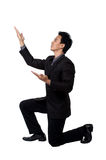Business man Stance pointing isolated Stock Photo