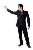 Business man Stance pointing isolated Royalty Free Stock Photography