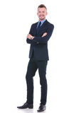 Business man standing with arms folded Royalty Free Stock Images