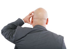 Business man standing back Royalty Free Stock Photo