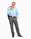 Business man standing casually isolated on white Royalty Free Stock Photos