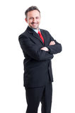 Business man standing confident Royalty Free Stock Images