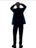 Business man standing despair isolated Royalty Free Stock Photo