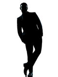 Business man standing Full length hands in pocket Royalty Free Stock Photo