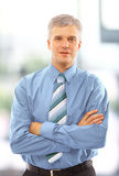 Business man standing isolated Royalty Free Stock Photo