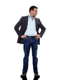 Business man standing mocking silhouette Royalty Free Stock Image